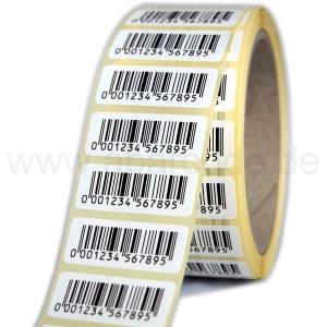 Barcode-Papiertiketten 40 x 15 mm