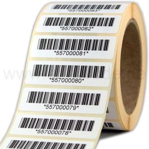 Barcode-Papiertiketten 70 x 20 mm